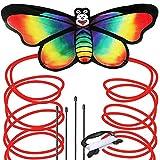 Regenbogen Schmetterling Drachen für Strand und Outdoor Fun-einfach zu montieren und starten Kite für Kinder