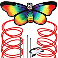 AGREATLIFE Rainbow Butterfly Kite for Kids - Perfect Stocking Filler and Stuffer - Beach and Outdoor Games - Easy to Assemble and Fly Giant Kite For Children 2