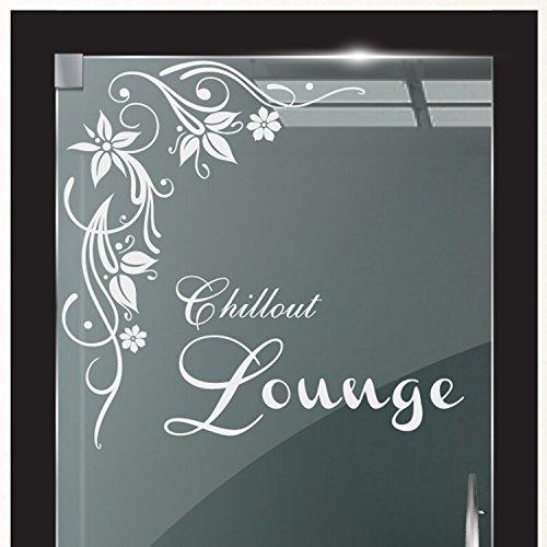 DD Dotzler Design 2111-1 Milchglasfolie Glastür Fenster Motiv Fensterfolie Chillout Lounge Blumenranke Glaskunst (Vögel Dekor Home)
