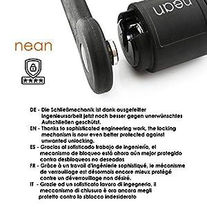 NEAN-Candado de bicicleta plegable, soporte, 2llave de seguridad, 20x 3,5x 840mm