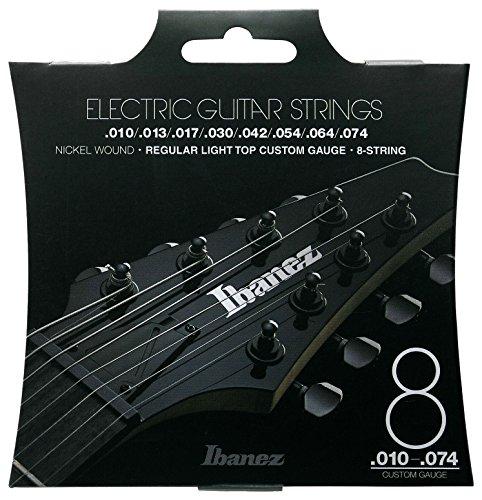 Ibanez IEGS81 E-Gitarre Saite Satz (Nickel Wound, 8-String, 010-074, Regular Light)