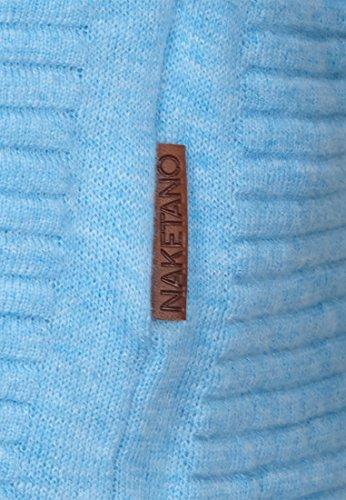 Naketano Male Knit Zapzarap Zip Zap IV Horizon Blue Melange
