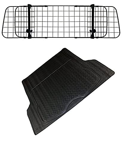 XtremeAuto® Car Dog Guard With Dog Bed / Boot Liner OR Rubber Boot Mat (Dog Guard + Large Boot Mat)