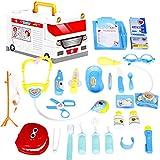 Equipo médico duradero para niños con estetoscopio electrónico y 25 equipos médicos empaquetados en una ambulancia