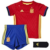 1ª Equipación Selección Española de Fútbol Euro 2016 - Conjunto para bebé camiseta y pantalón corto oficial adidas, talla 80