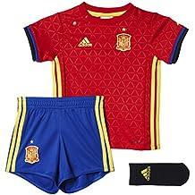 1ª Equipación Selección Española de Fútbol Euro 2016 - Conjunto para bebé camiseta y pantalón corto oficial adidas