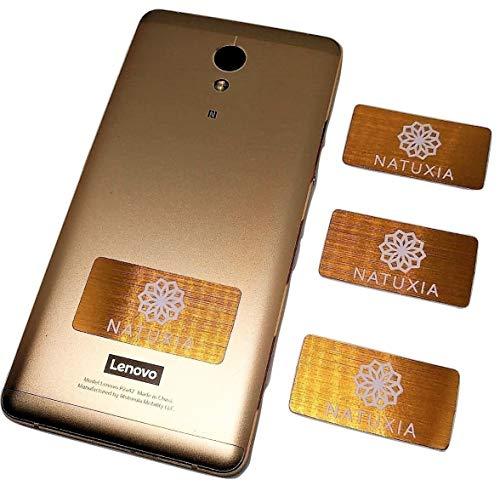 Strahlenschutz Handy Aufkleber, Strahlung Abschirmung, Elektrosmog Neutralisierer für WLAN, Laptop, Handy (4 Pack) -