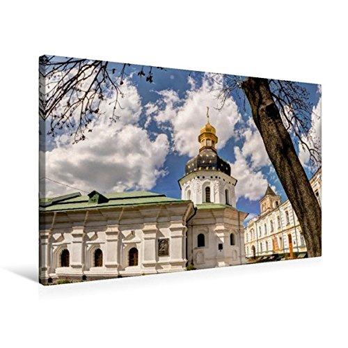 Preisvergleich Produktbild Premium Textil-Leinwand 75 cm x 50 cm quer, Kloster in Kiew | Wandbild, Bild auf Keilrahmen, Fertigbild auf echter Leinwand, Leinwanddruck (CALVENDO Orte)