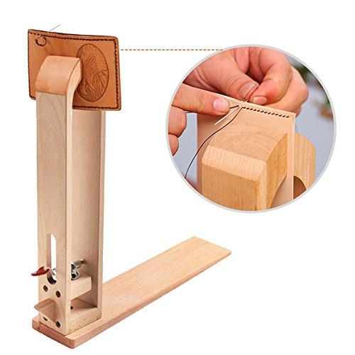 Holz Leder nähen Werkzeug Halteclip Behandlungen Crafts DIY Nähen Schnürsystem Nähkloben Nähpferd Basic zum festhalten des Leders beim Ledernähen (Werkzeug Kurbel Installation)