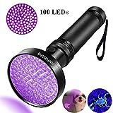 UV Taschenlampe, ONIPU UV Taschenlampe 100 LEDs Haustier Hund Katze Urin Flecken Scorpion Bed Bug Detektor Licht 395 nm Ultraviolet Schwarzlicht Inspektion