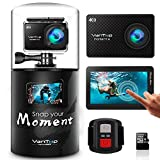 VanTop Moment 4 4K 20MP 30M Waterproof Action Camera with Touch Screen, Remote