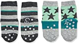 Sterntaler Baby-Jungen Socken Abs-Krabbelsöckchen DP Sterne, Grau (Anthrazit Melange 592), 18