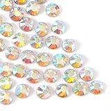 Museya Un insieme di 1400pcs SS10 3mm Crystal AB resina Hotfix Strass dorso per fai da te vestiti sacchetto decorazione cellulare gioielli