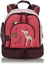 LÄSSIG Kinder Mini Rucksack mit Brustgurt, 3,5L , Rosa (Little Tree Fawn)