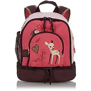 51MURDxOo6L. SS300  - LÄSSIG Mochila Infantil para niños pequeño/Mini Backpack, Little Tree Fawn