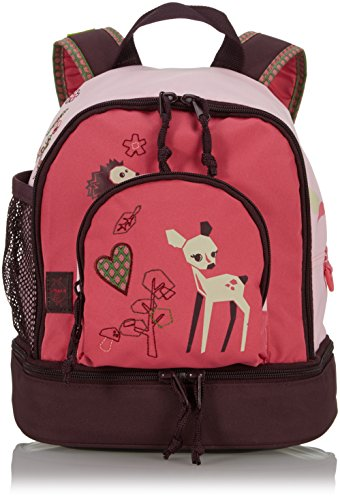 LÄSSIG Kinder Mini Rucksack mit Brustgurt, 3,5L , Rosa (Little Tree Fawn)