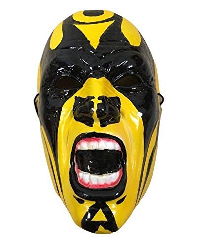 Goldust - Ringer Maske Kostüm geschnürt Kostüm Hart Plastik Halloween Cosplay Maske - mit (Halloween Kostüme Ringer)