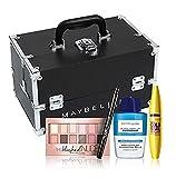 Maybelline praktischer Schminkkoffer, inklusive 4 ausgewählter Augen-Make-up-Produkte
