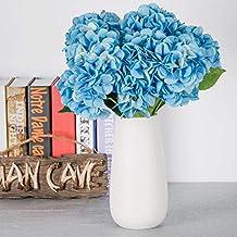 TYEERDEC Hortensia Artificial Flores 5 Cabezas Seda Artificial Hortensia Bouquet para Bodas Home Garden Hotel Fiesta