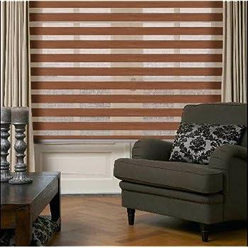 doppelrollo duo rollo farbe braun ral 8008 120 cm x 250 cm mit breiter beschwerung. Black Bedroom Furniture Sets. Home Design Ideas