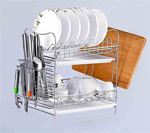 étagère de rangement Rack bol en acier inoxydable / coupe rack Conseil / Cuisine étagères / 2 couches égouttoir / Matériel de Cuisine Étagère d'armoire ( Couleur : 1# )