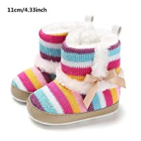 achievr Baby Toddler Winter Baby Girls Shoes Toddler Snow Boots Warm Prewalker Newborn Boots Anti-Slip, Keep Warm Soft Sole Crib Shoes Toddler Boots