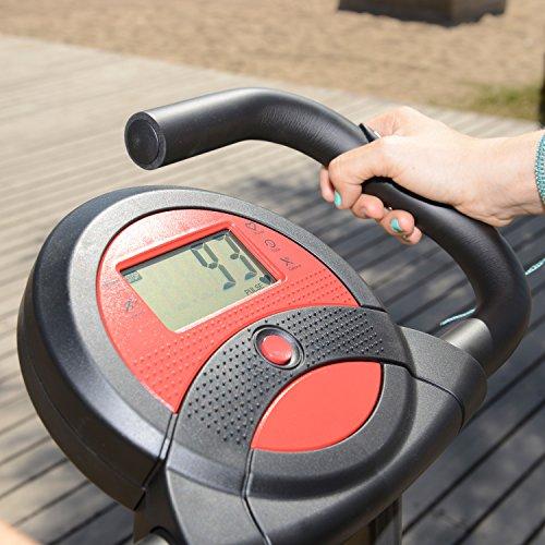skandika Foldaway X-1000 Fitnessbike Heimtrainer klappbar mit Handpuls-Sensoren, 8-stufiger Magnetwiderstand, LCD Display ohne Rückenlehne - 10