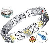 BisLinks® Fashion Magnetisch Armband Titanium & Germanium Stein Für Männer & Frau Health Carpal Tunnel Relief... preisvergleich bei billige-tabletten.eu