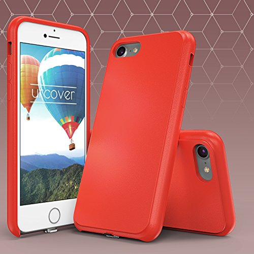 Urcover® Apple iPhone 7 / 8 Qi FAST CHARGING Backcase | Kunststoff Hülle in Rot | Schutz-hülle Ladeempfänger Slim Wireless Charging für iPhone 7 / 8 kabellos laden Rot