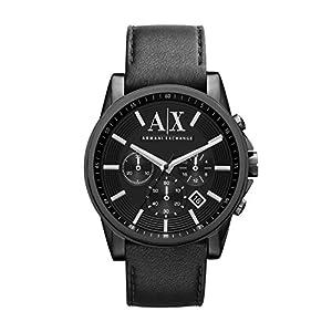 Emporio Armani AX2098 - Reloj con correa de metal para hombre, color blanco / plateado de Emporio Armani