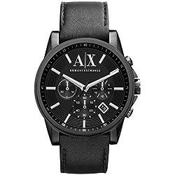 Emporio Armani AX2098 - Reloj con correa de metal para hombre, color blanco/plateado