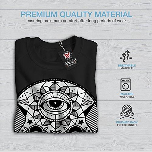 Sucre Crâne Tête Visage Femme S-2XL Sweat-shirt   Wellcoda Noir