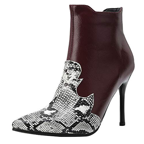 cinnamou Damen Mode Feine Ferse Stiefel,Super High Heels Stiefeletten