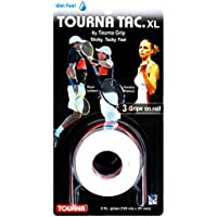 TOURNA Tac XL Grips de tenis (3 unidades, Grips) Blanco blanco