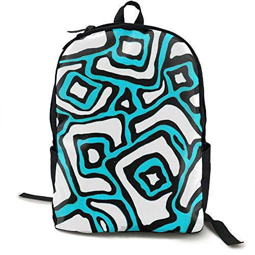 TRFashion Blue Creative Abstract Waterproof School Bag Durable Travel Camping Backpack Boys Girls Rucksack Schultasche (Pokemon Rucksack Auf Rädern)