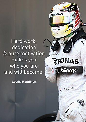 Motivations-Poster Nr. 21, Lewis Hamilton, Grand-prix-Gewinner-F1 2014, Rennfahrer, A3, Poster