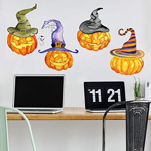 Halloween-Kürbis Beleuchtet Kreative Wand-Aufkleber-Feiertags-Feier-Dekorative Wand-Aufkleber (Halloween Feiertag Ein Ist)