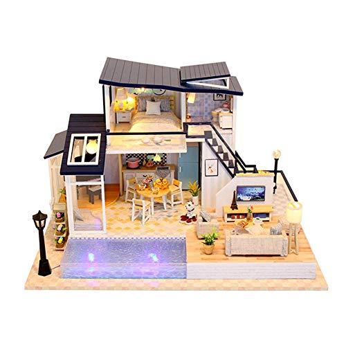 DIY Dollhouse Meerjungfrau Tribe Hand Assembled Toys Mini Holzhaus Creative Mini Wohnung Für Mädchen