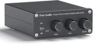 2 Channel Stereo Audio Amplifier Receiver Mini Hi Fi Class D Integrated Amp 2 0ch For Home Speakers 100w X 2 With Bass And Treble Control Tpa3116 Tb10a With Power Supply Mp3 Hifi