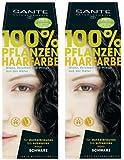 Sante Pflanzenhaarfarbe Haarfarbe im Doppelpack schwarz 2 x 100 g im Set für ein tolles Farberlebnis