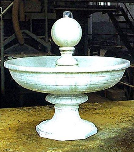 floristikvergleich.de Brunnen, Gartenbrunnen, Zierbrunnen, fountain, mit Kugel Farbe antikfinish