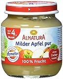 Alnatura Bio Milder Apfel pur, nach dem 4. Monat, (6 x 125 g)