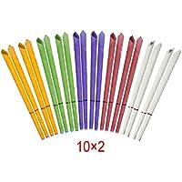 Preisvergleich für Incutex 20x sanft duftende Ohrkerzen mit verschiedenen Duft-Extrakten, verschiedene Farben