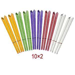 Incutex - 20 candele per le orecchie dal profumo delicato, diversi colori e fragranze