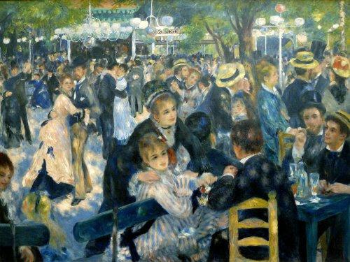 World of Art Auguste Renoir Dance at The Moulin de la Galette C1876250GSM, glänzend, A3, vervielfältigtes Poster