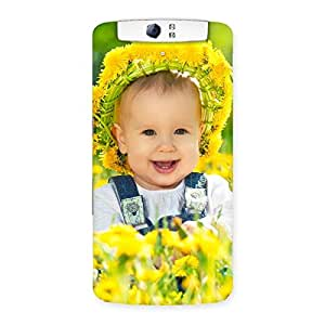 Stylish Laughing Baby Girl Back Case Cover for Oppo N1