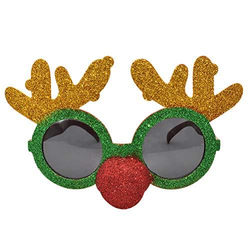 BESTOYARD Rentier Weihnachtsbrille Kinder und Erwachsene Weihnachten Party Brillen Requisiten