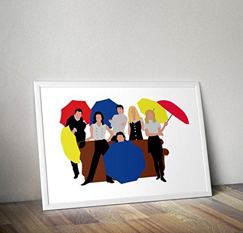 Póster programa televisión Friends - Inspiración