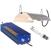Xtrasun SET600XTE - Balastro electrónico, 600W HPS con Reflector XT2AW y lámpara, 53 x 30.5 x 24.5 cm, Color Azul