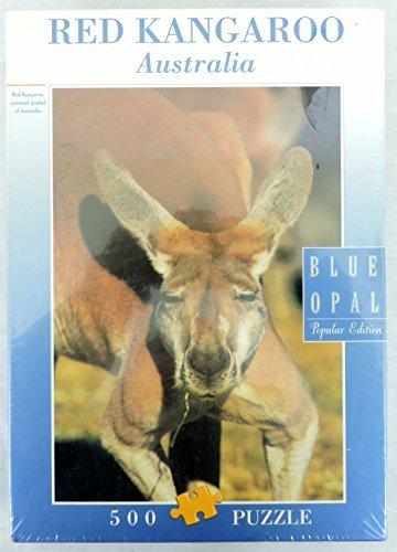 Blue Opal Red Kangaroo Australia 500 Piece Jigsaw Puzzle 05008
